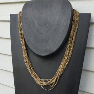 Multi-Strand Chain Link Statement Necklace